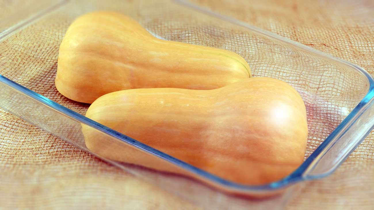 Butternut squash ready to be cooked