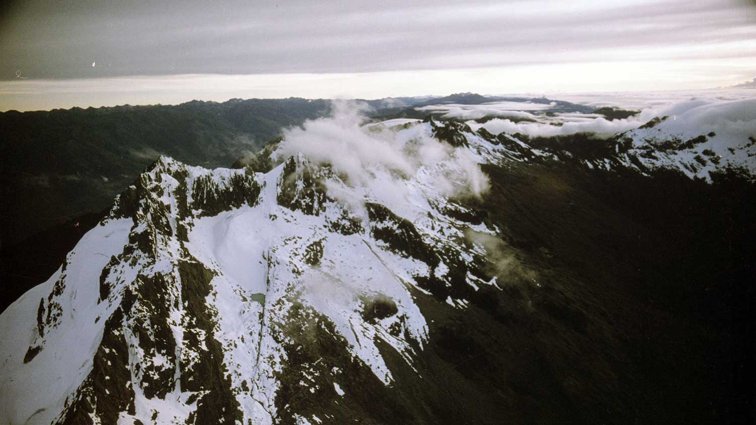 The Andes mountains featured in Living Planet, a Francis Thompson film sponsored by SC Johnson