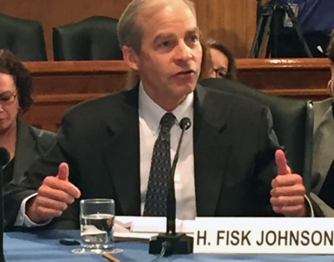 SC Johnson Chairman and CEO Fisk Johnson meeting with members of the U.S. Senate Homeland Security and Governmental Affairs Committee to discuss Zika