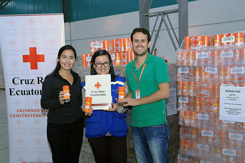 Product donated by SC Johnson to Red Cross and Red Crescent Societies