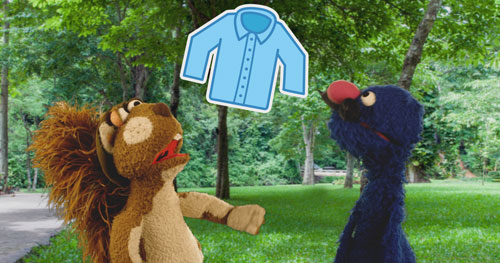 A still from an SC Johnson and Sesame Street video about mosquito bite prevention