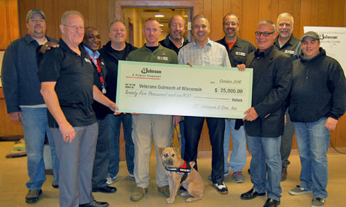 SC Johnson presents a donation to Veterans Outreach of Wisconsin