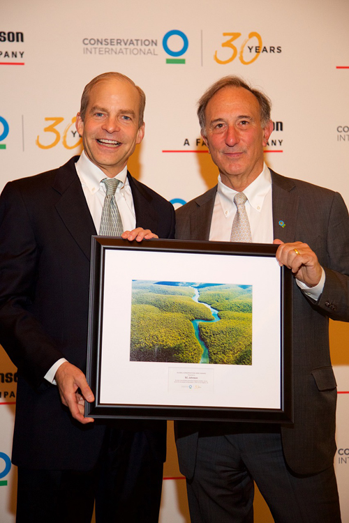 Fisk Johnson, Chairman and CEO of SC Johnson, and Peter Seligmann, Founder and Chairman of Conservation International