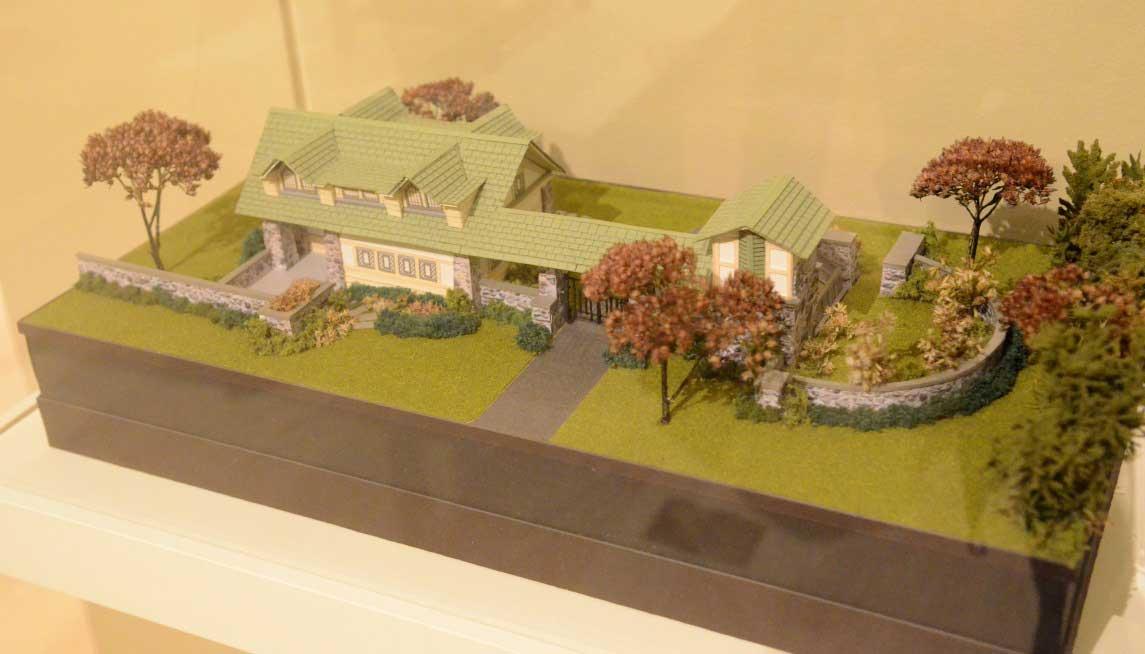 Miniature scale model of a Frank Lloyd Wright design.