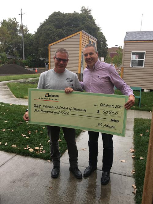 Donation to Veterans Village in Racine