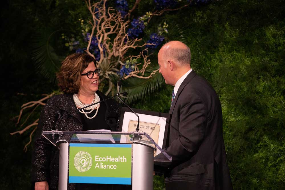 SC Johnson receives an award from EcoHealth Alliance