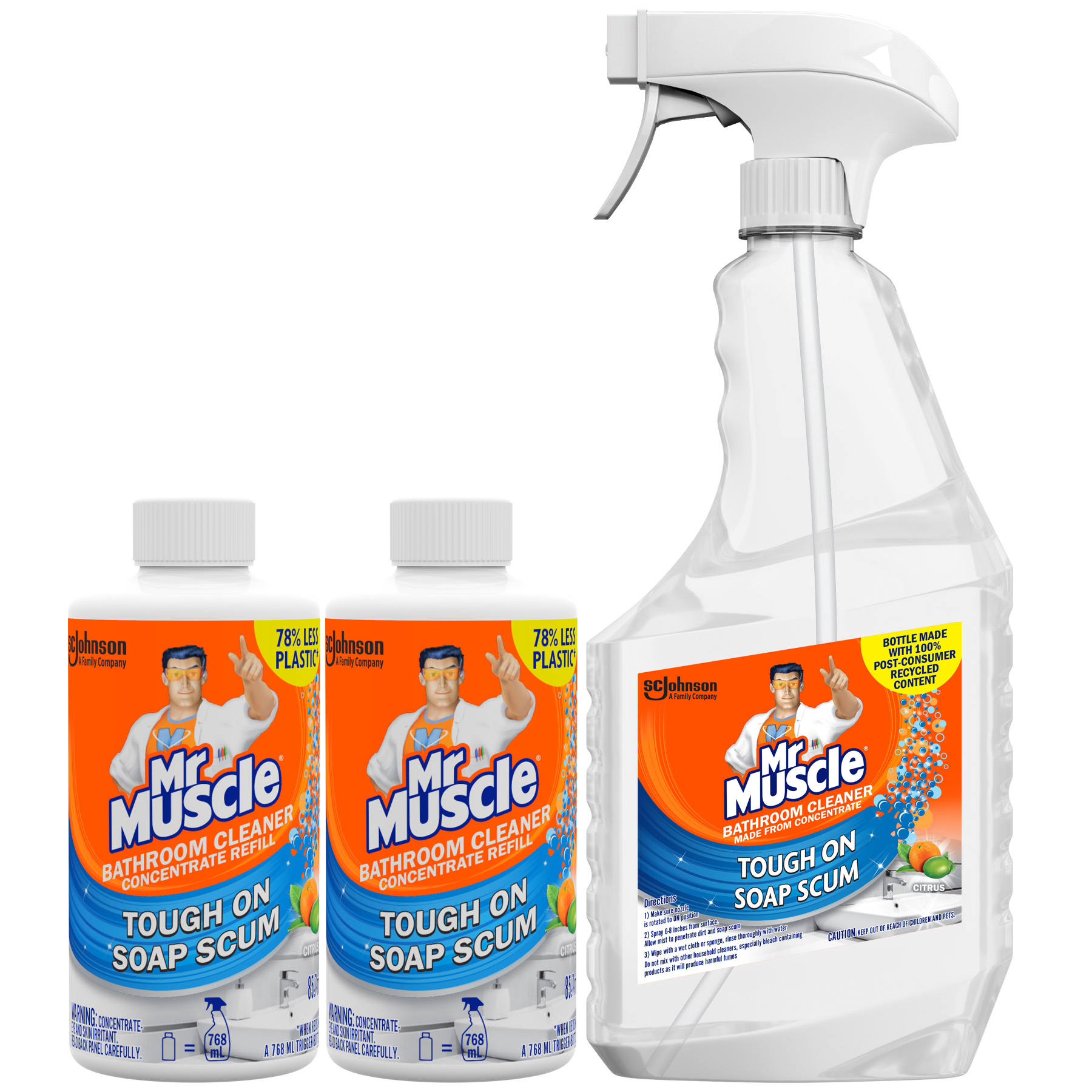 mr muscle bathroom cleaner concentrate