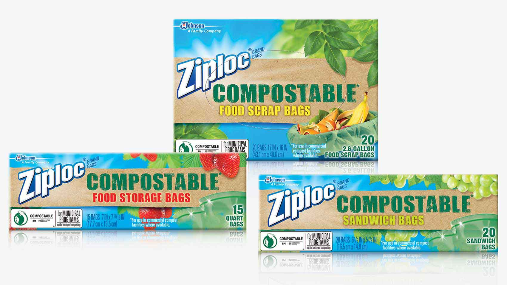 SC Johnson Ziploc Compostable Bag Products
