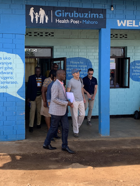 Fisk Johnson in Rwanda at a Health Post