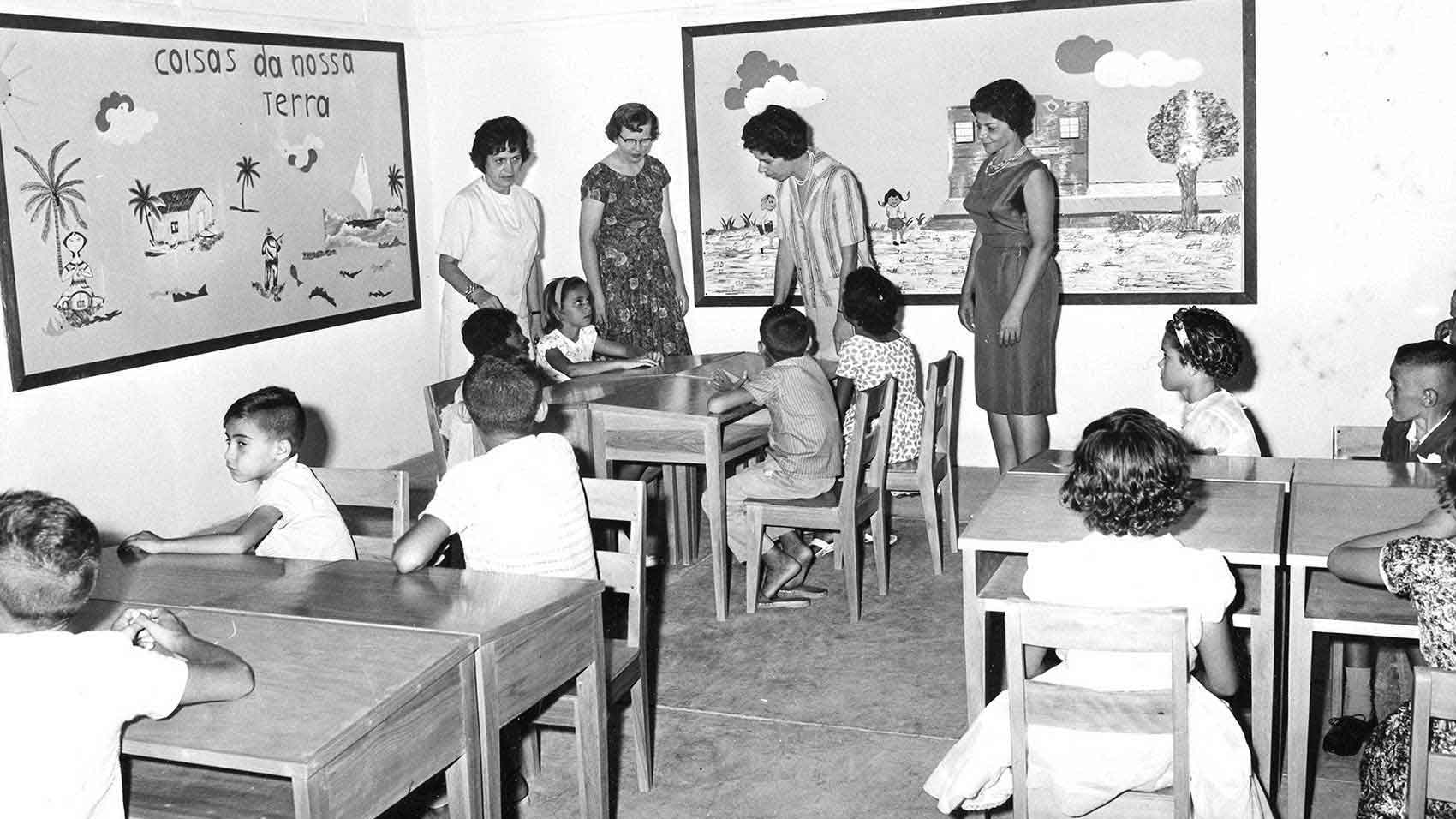 Escola Johnson around the time it was established in the 1960s