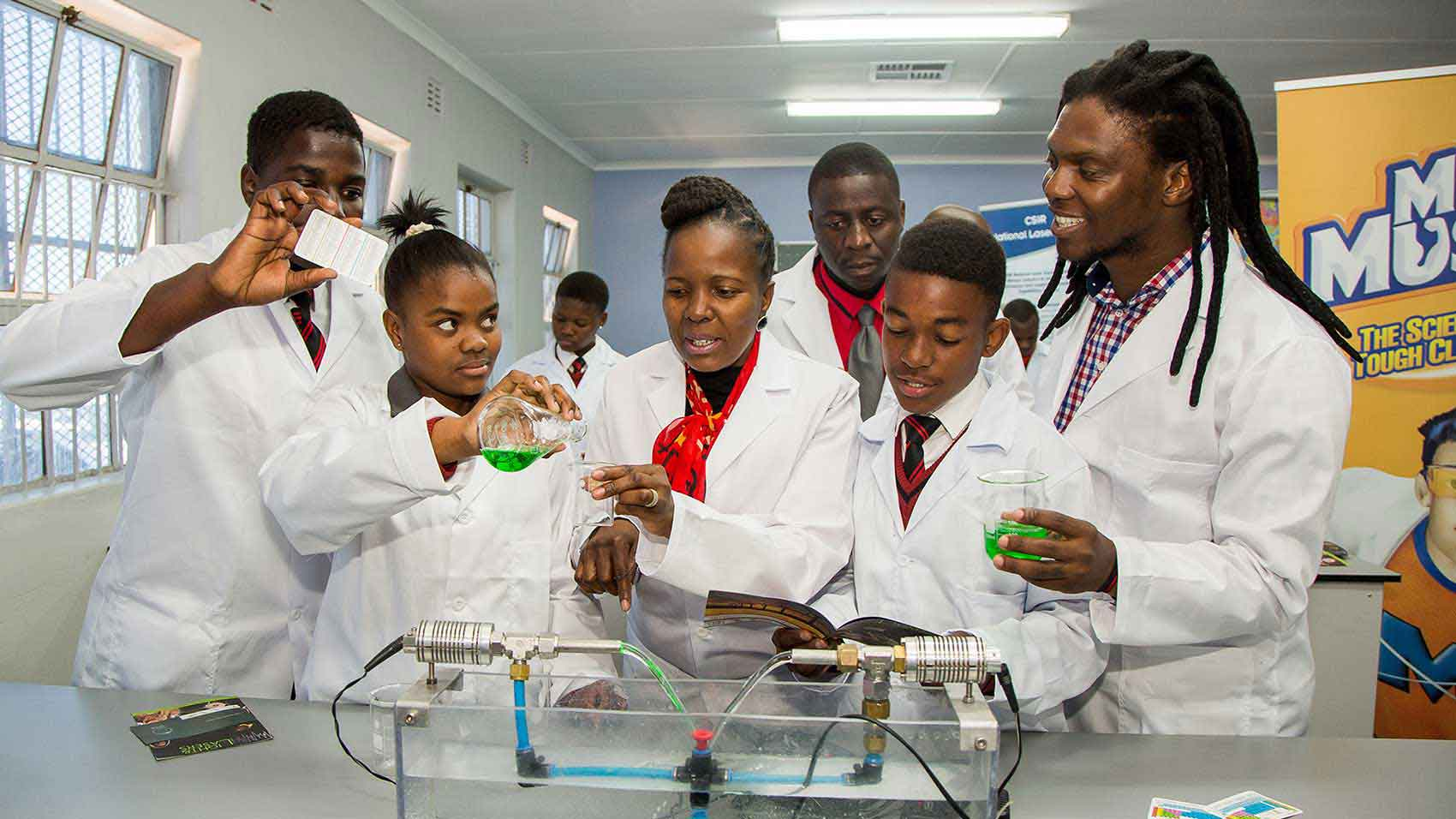 SC Johnson's corporate philanthropy program provides science lab and equipment for students.