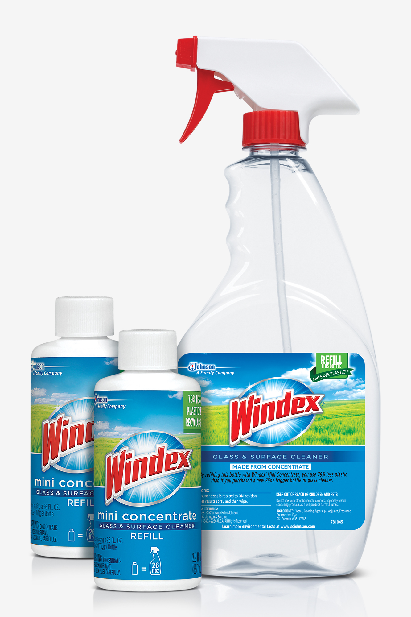 Sustainability research led to the creation of Windex Mini Concentrates