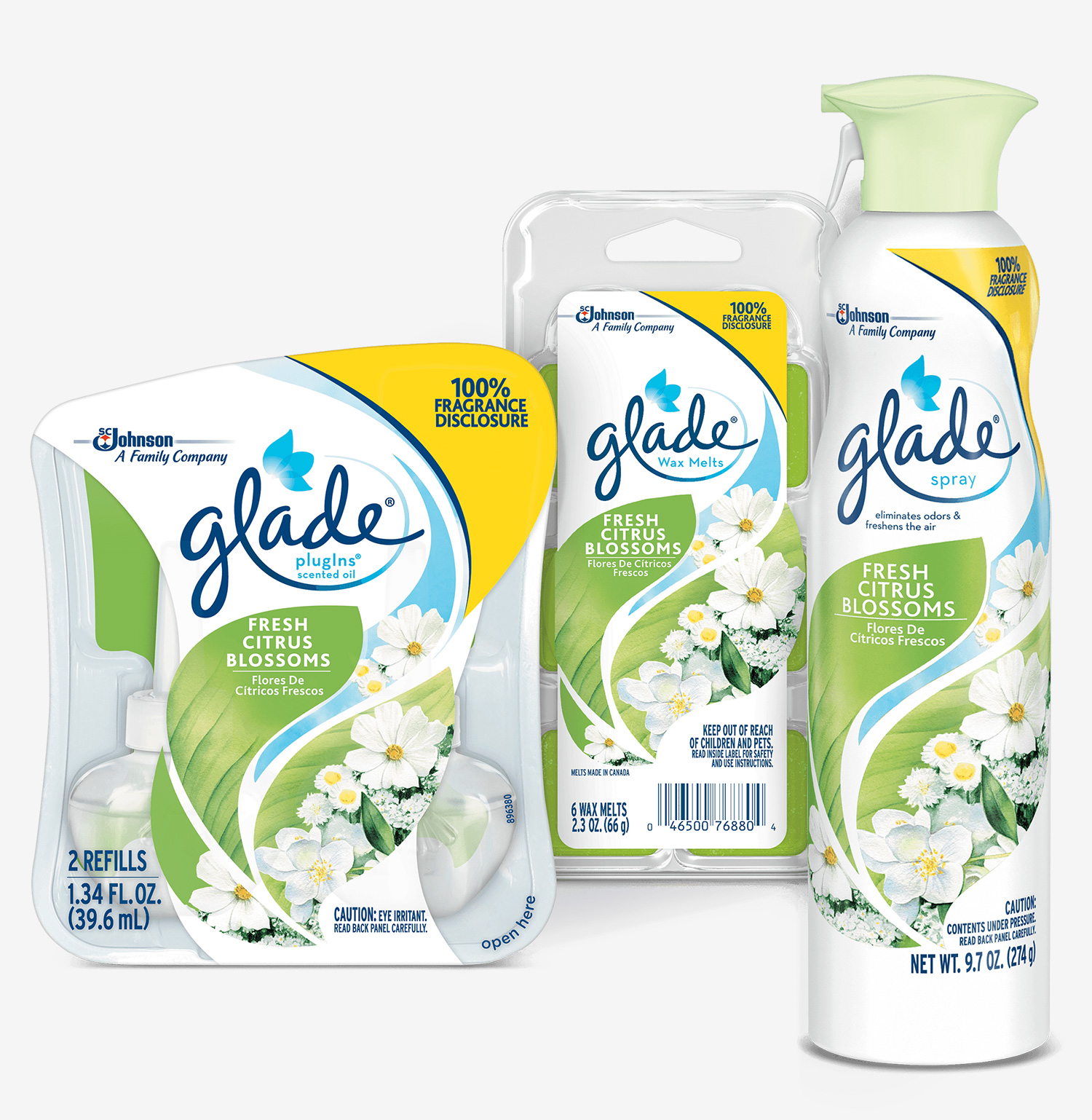 SC Johnson discloses fragrance ingredients in Glade® Fresh Citrus Blossoms collection