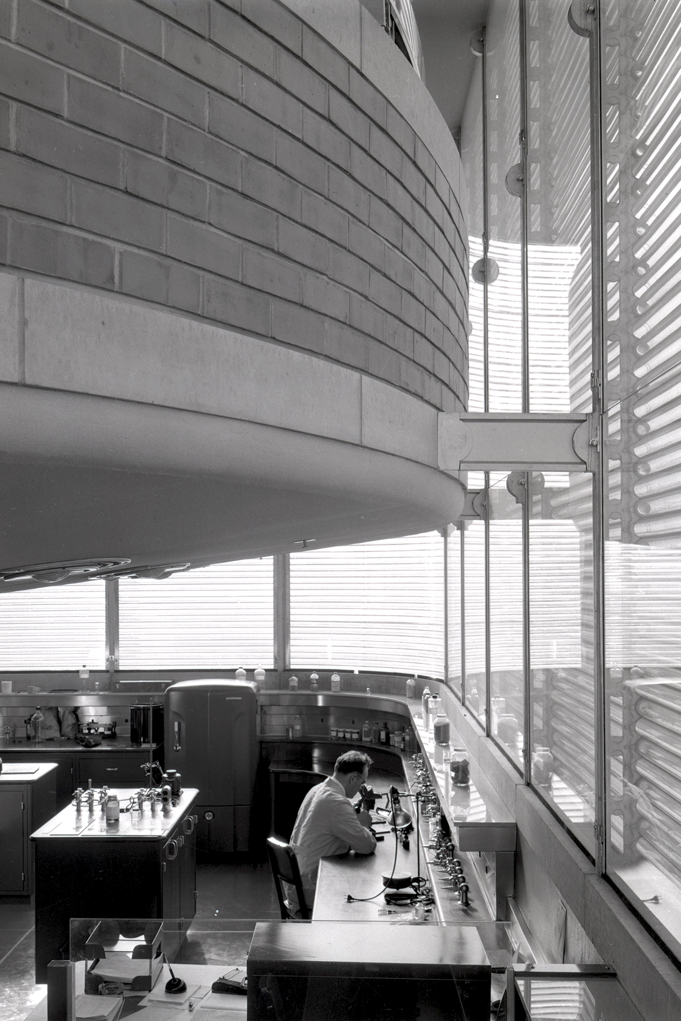 Inside the Frank Lloyd Wright - designed Research Tower