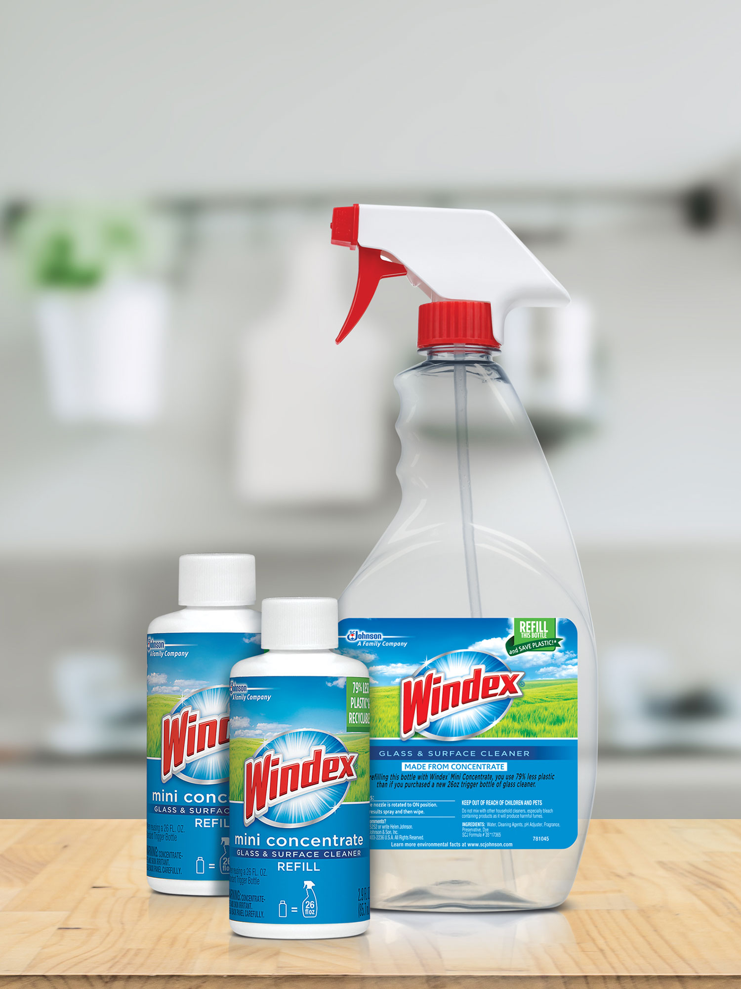 SC Johnson Windex mini concentrate products