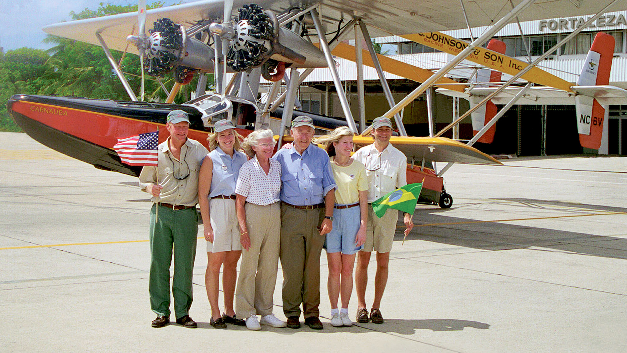 Gene Johnson with Johnson family in Brazil
