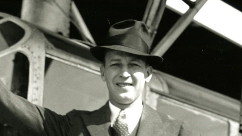 H.F. Johnson, Jr. with Carnaúba plane