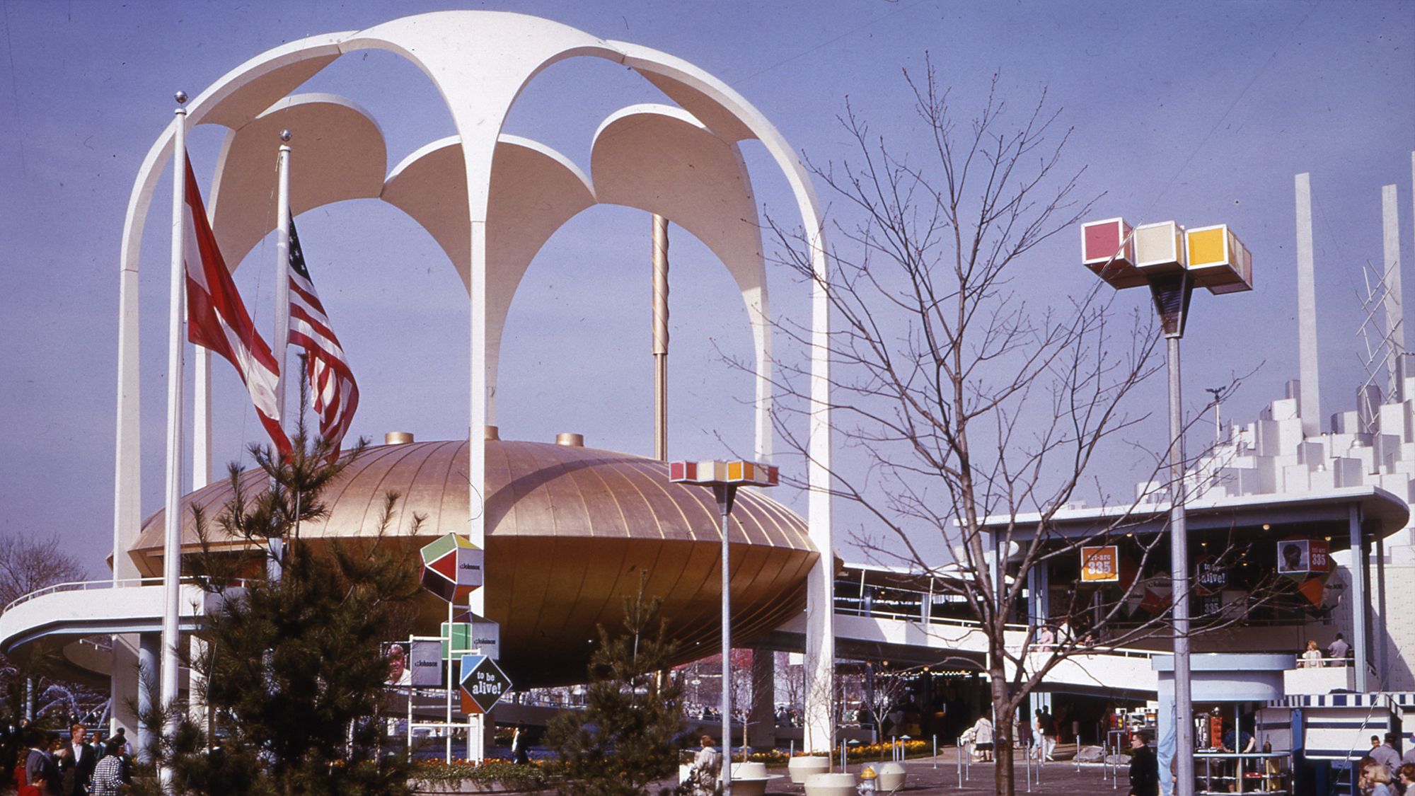 The 1964 SC Johnson Pavilion, now known as The Golden Rondelle Theatre
