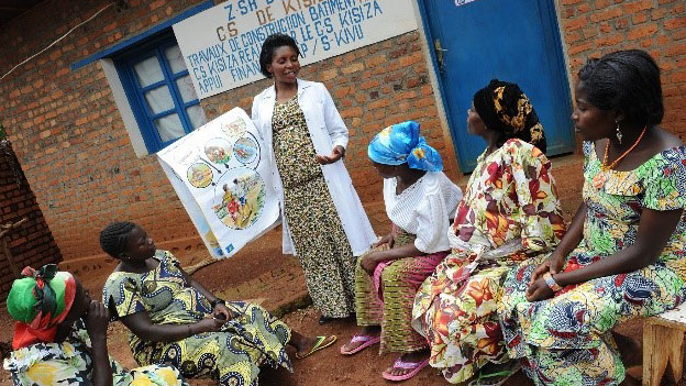 SC Johnson funded health clinic during facilitated teaching and preventive practices for COVID-19.