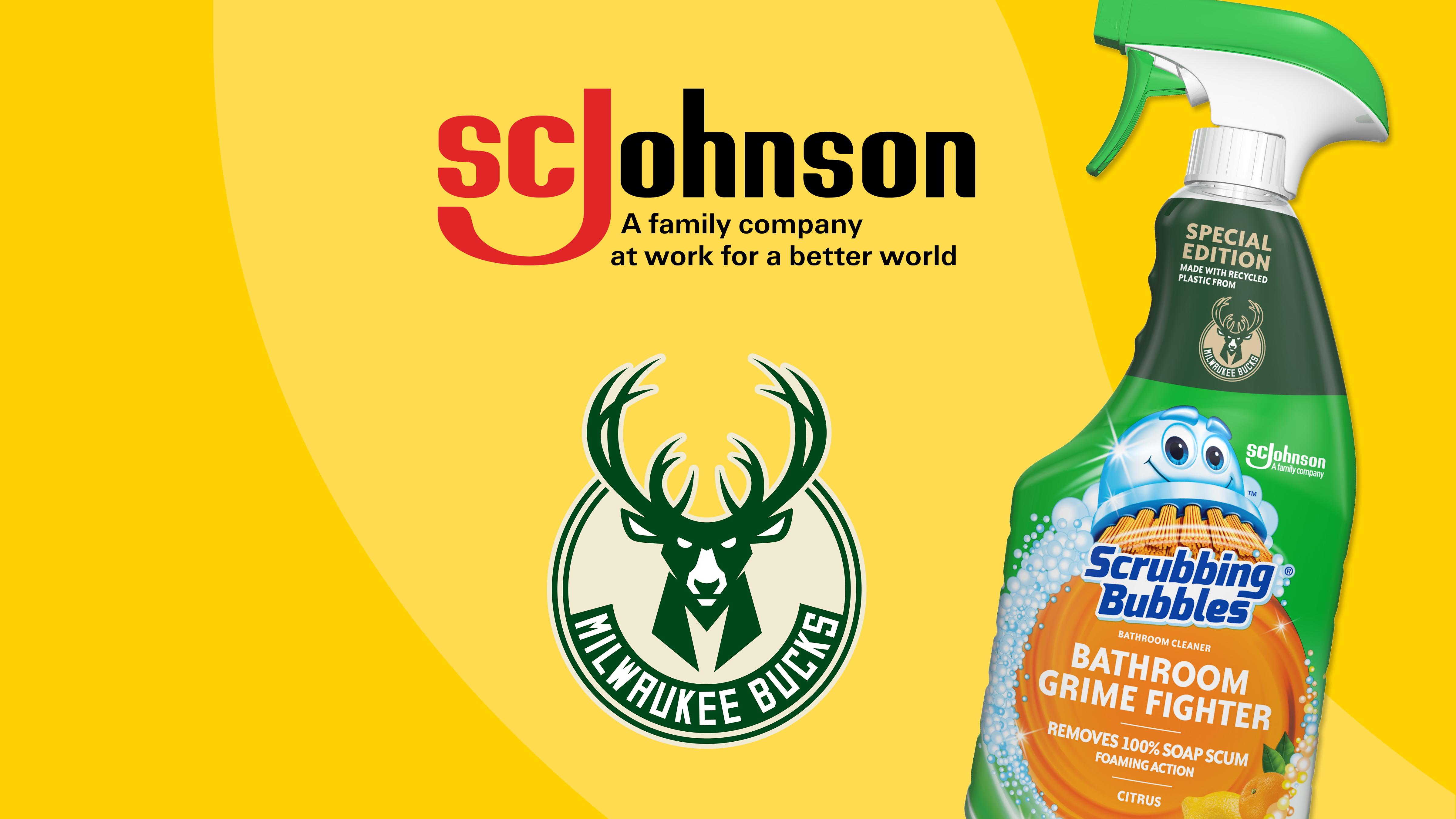 SC Johnson and the Milwaukee Bucks team up to combat plastic waste