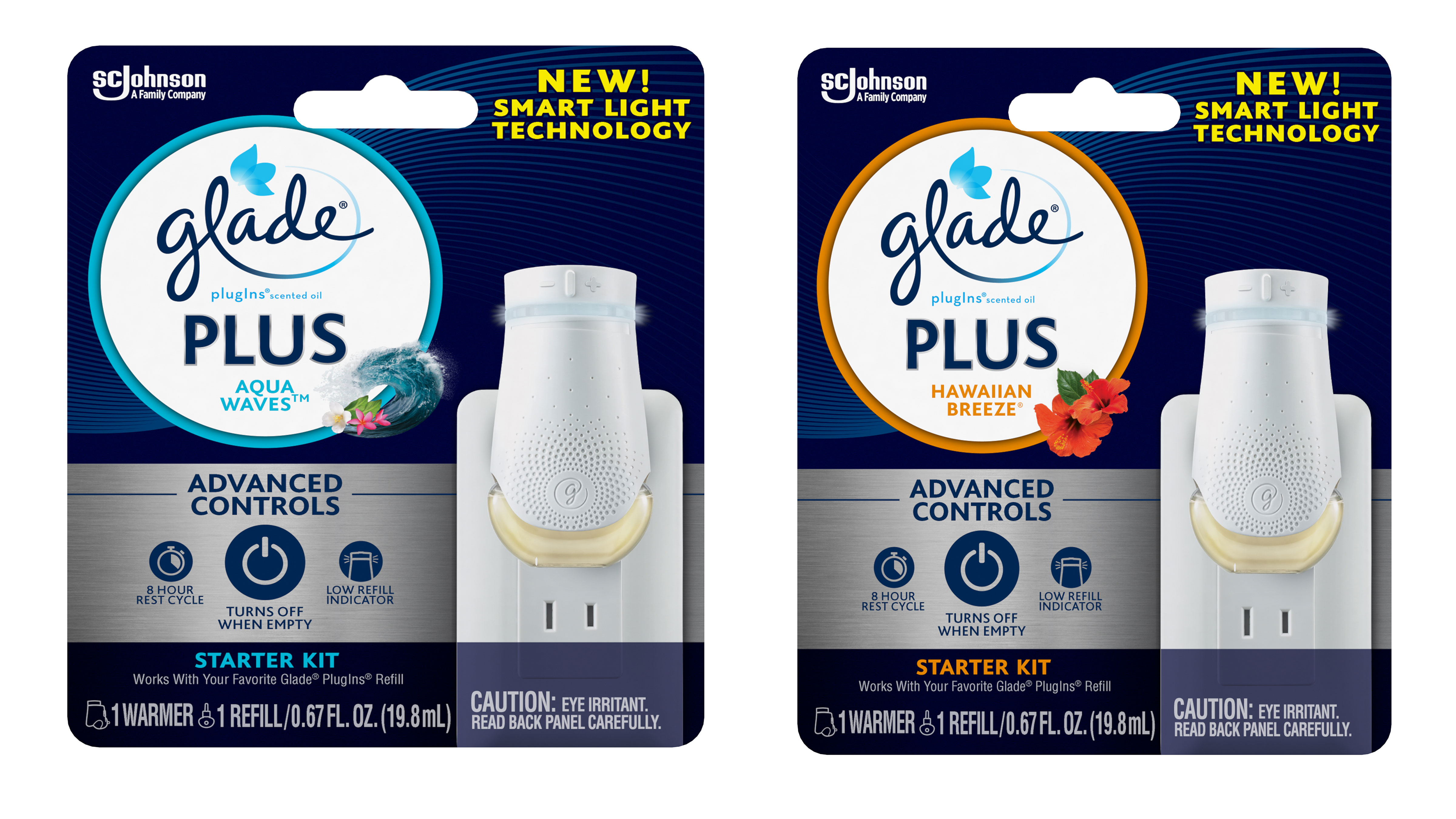 Energy-Efficient Glade® PlugIns® Scented Oil PLUS Launches in the United States - Hawaiian Breeze and Aqua Wave