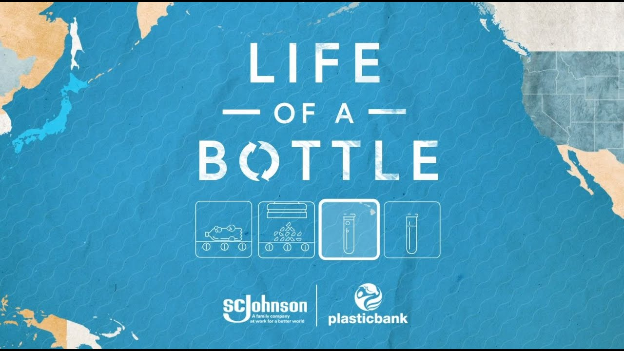 Life of a plastic recycled bottled video