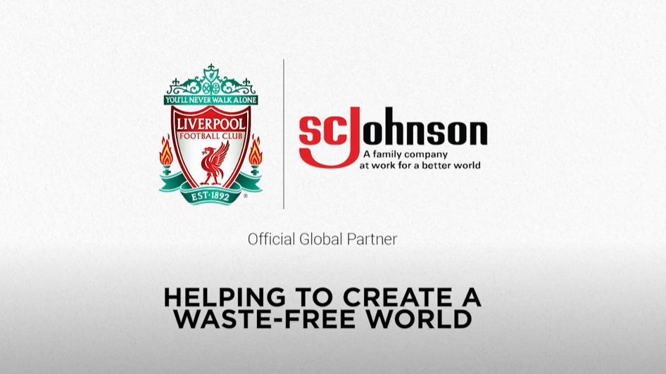 Liverpool and SC Johnson partnership logos
